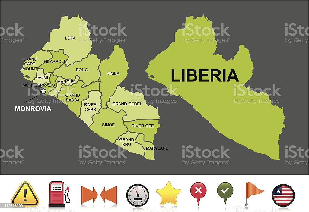 Liberia navigation map royalty-free liberia navigation map stock vector art & more images of arrow symbol