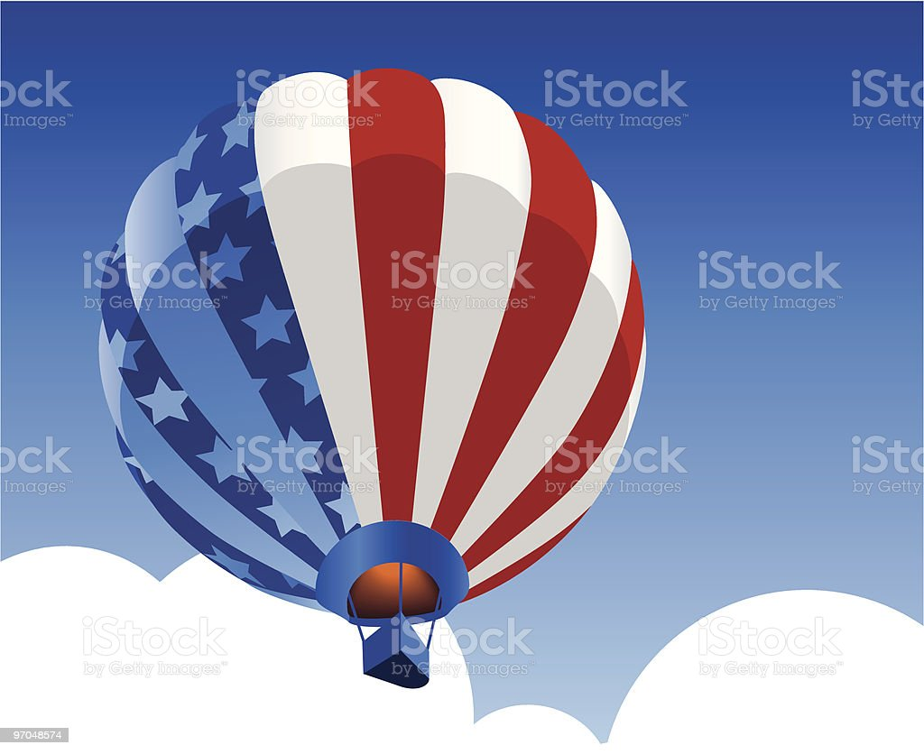 Liberty Balloon royalty-free stock vector art