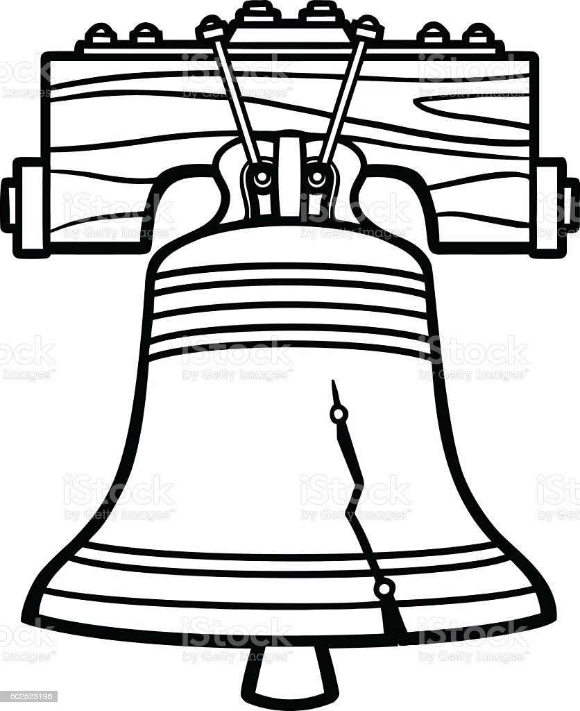 royalty free liberty bell clip art vector images illustrations rh istockphoto com liberty bell black and white clipart liberty bell images clip art