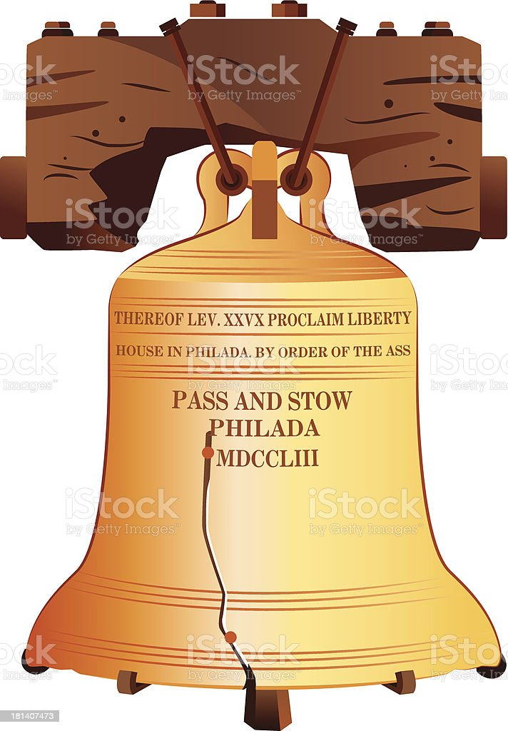 royalty free liberty bell clip art vector images illustrations rh istockphoto com liberty bell clip art free liberty bell clipart free
