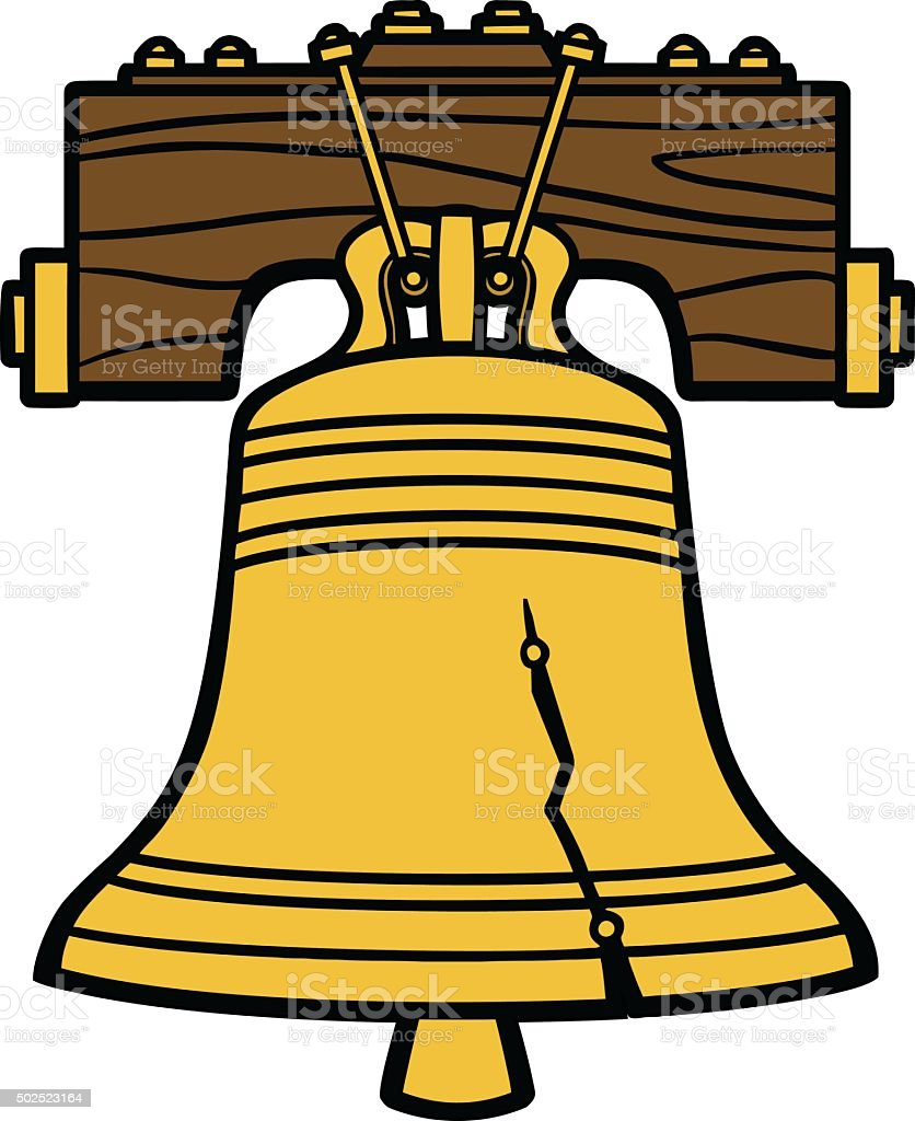 liberty bell stock vector art more images of 2015 502523164 istock rh istockphoto com liberty bell outline clip art liberty bell black and white clipart