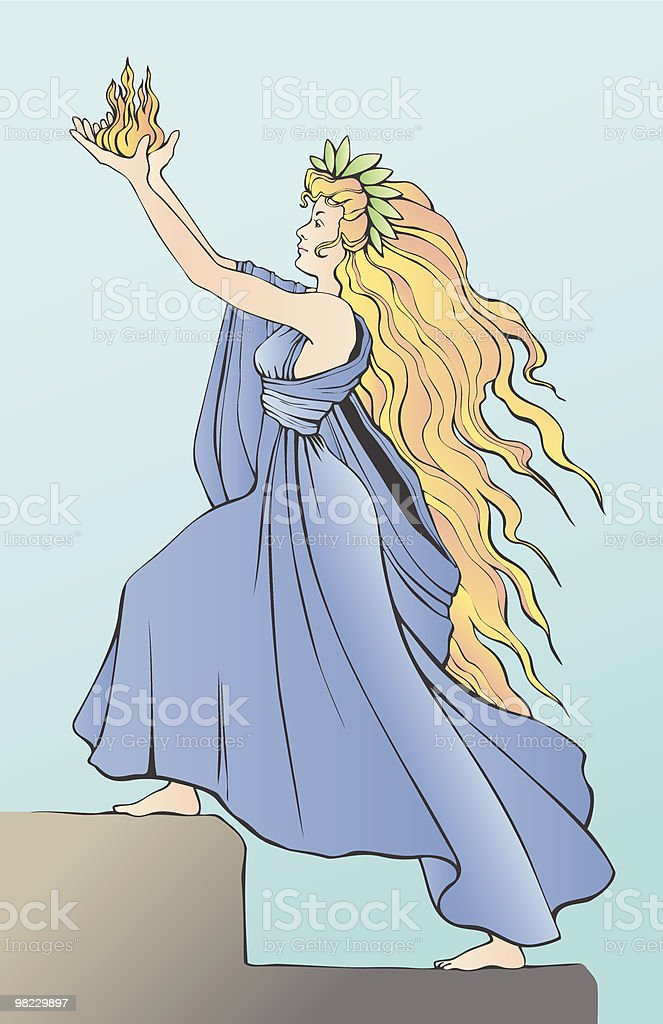Liberty Goddess ascending steps and lifting the flames of freedom royalty-free liberty goddess ascending steps and lifting the flames of freedom stock vector art & more images of blond hair