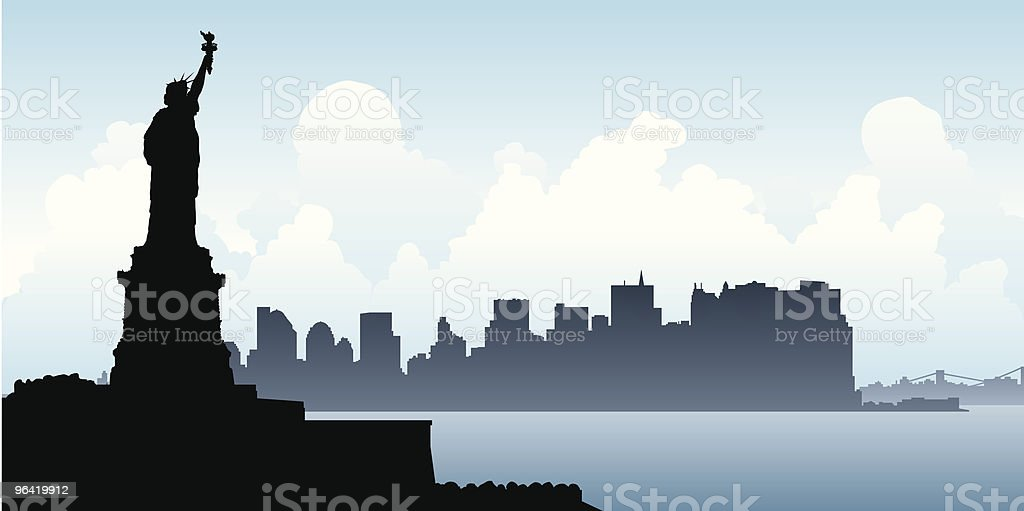 Liberty Silhouette royalty-free stock vector art