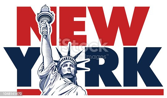 Liberty statue, New York, USA symbol