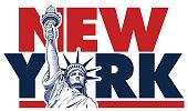 Liberty statue, New York, USA symbol