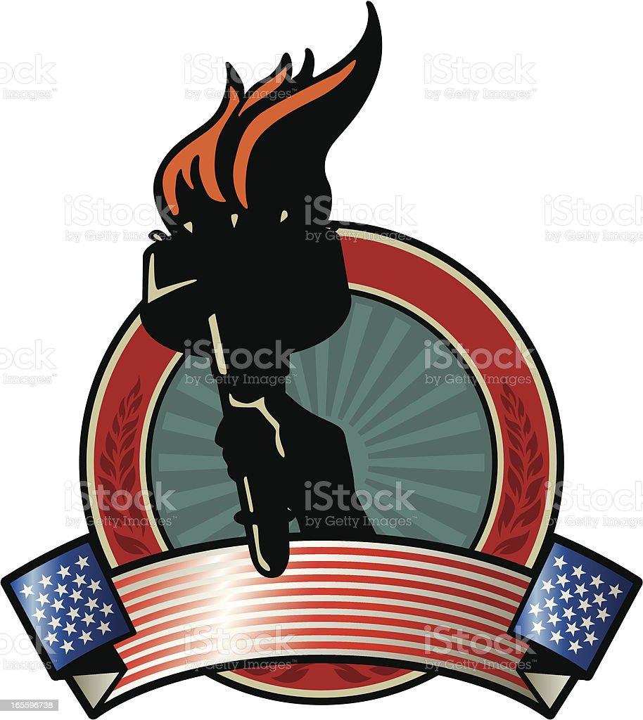 liberty vintage emblem royalty-free liberty vintage emblem stock vector art & more images of american culture