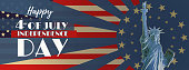 Liberty with star shining illustration for independence day BG