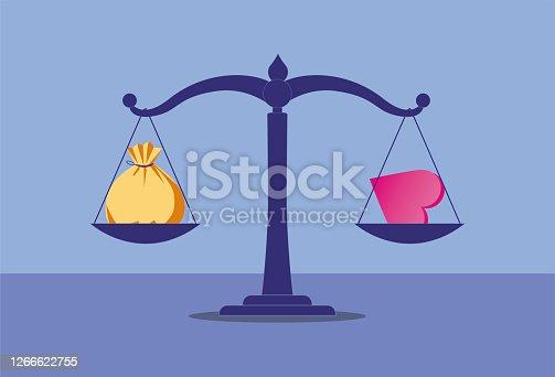 Scale, Wealth, Heart Shape