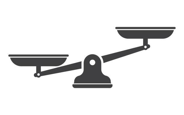libra isoliert auf weißem hintergrund - gleichgewicht stock-grafiken, -clipart, -cartoons und -symbole