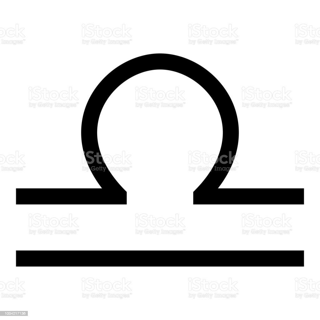 Libra Symbol Zodiac Icon Black Color Illustration Flat Style Simple
