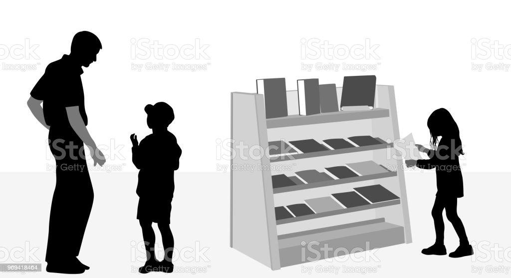 Ilustración de Bibliotecario Ayuda A Los Niños y más banco de ...