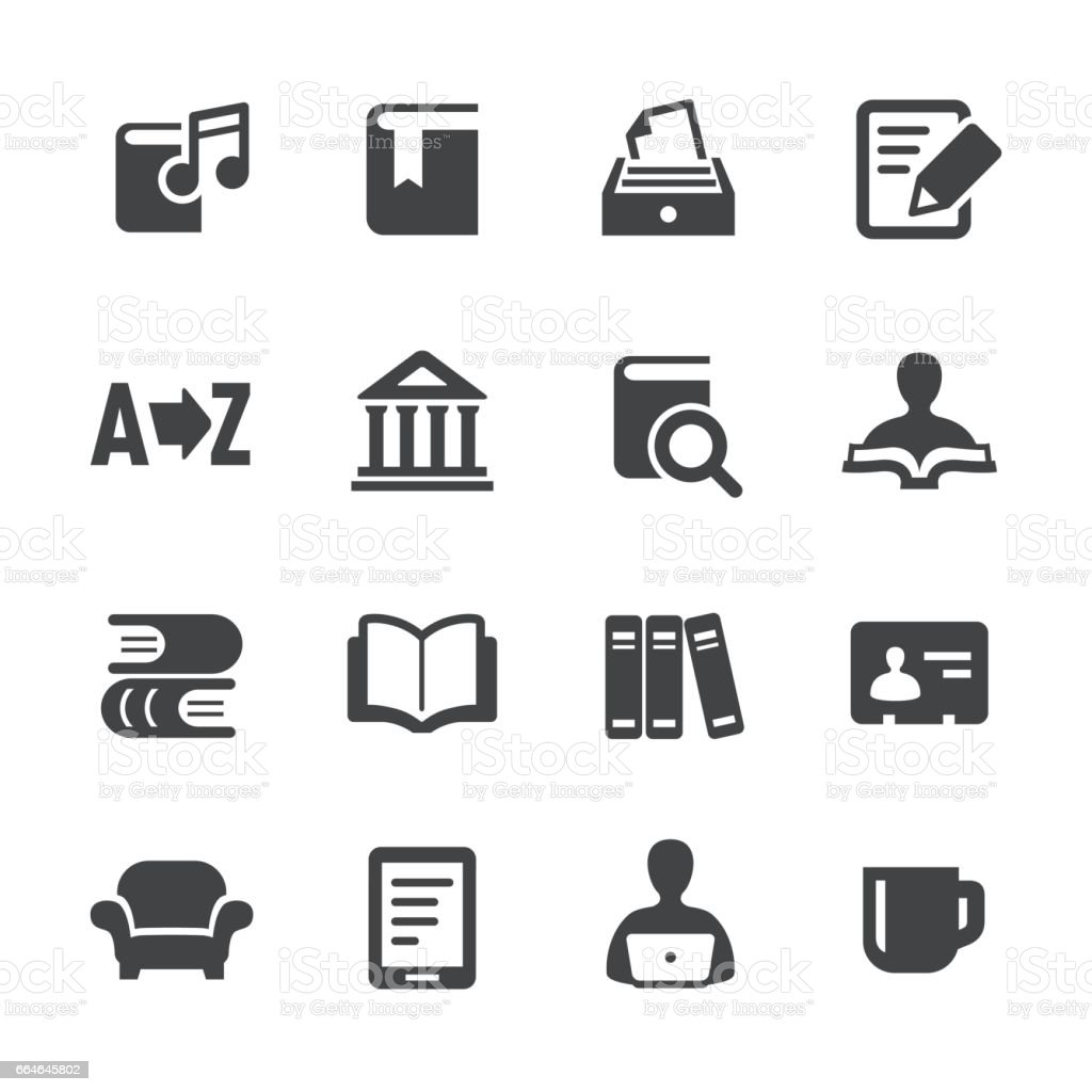 Library and books Icons - Acme Series vector art illustration