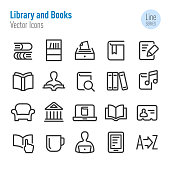Library, books,
