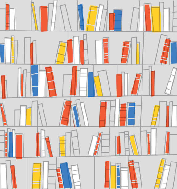 Library background. Vector illustration. - Illustration vectorielle