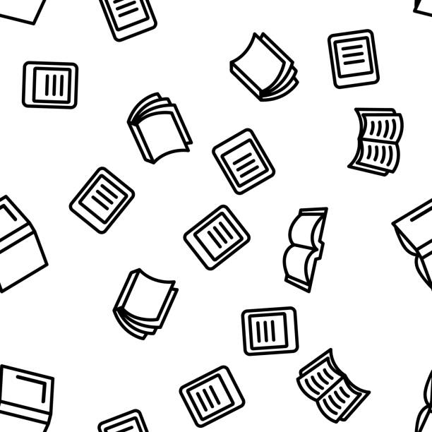Library Book Seamless Pattern Vector Library Book Education Seamless Pattern Vector Illustration book patterns stock illustrations