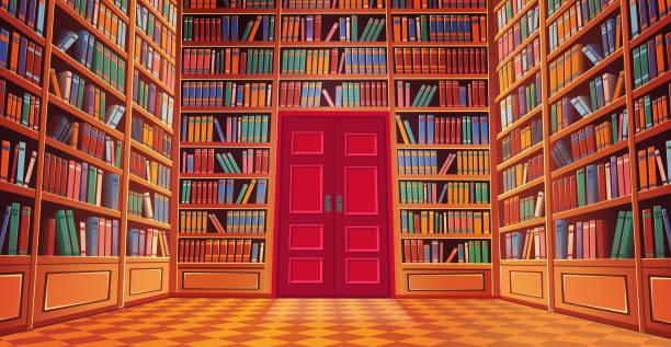 도서관 책 - library stock illustrations