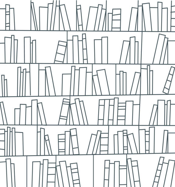 library, bookshelf - Illustration vectorielle