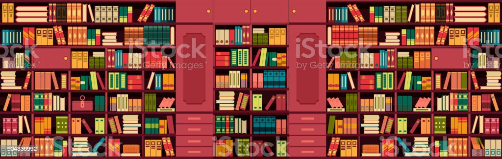 library bookshelves wall royalty free library bookshelves wall stock vector art more images - Library Bookshelves