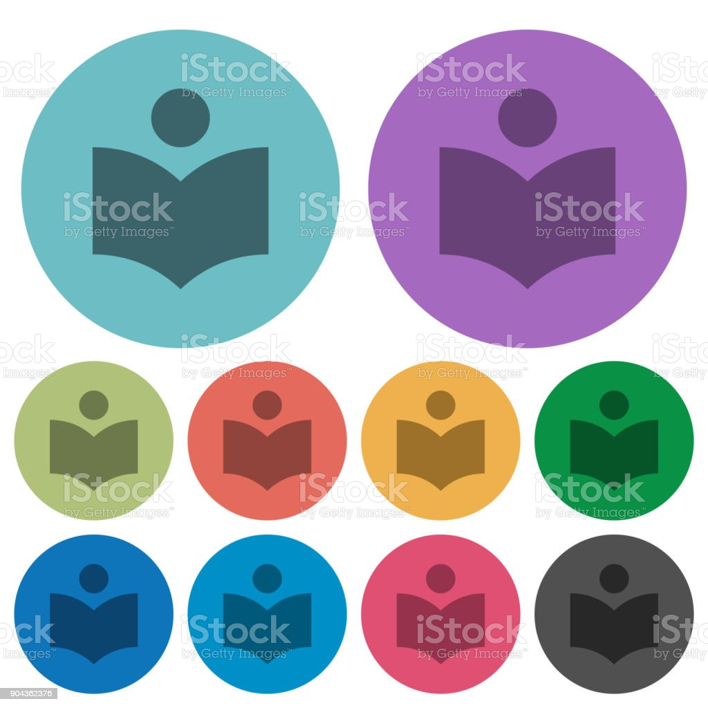 Library color darker flat icons vector art illustration
