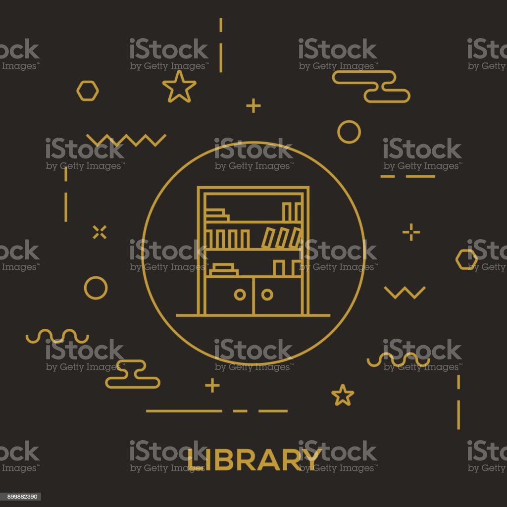 Library Concept vector art illustration