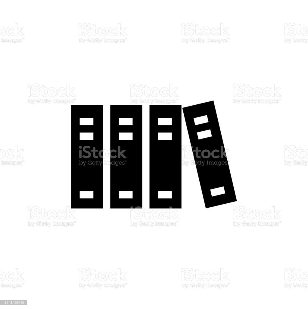 Library Icon In Flat Style Vector For App, UI, Websites. Black Icon...