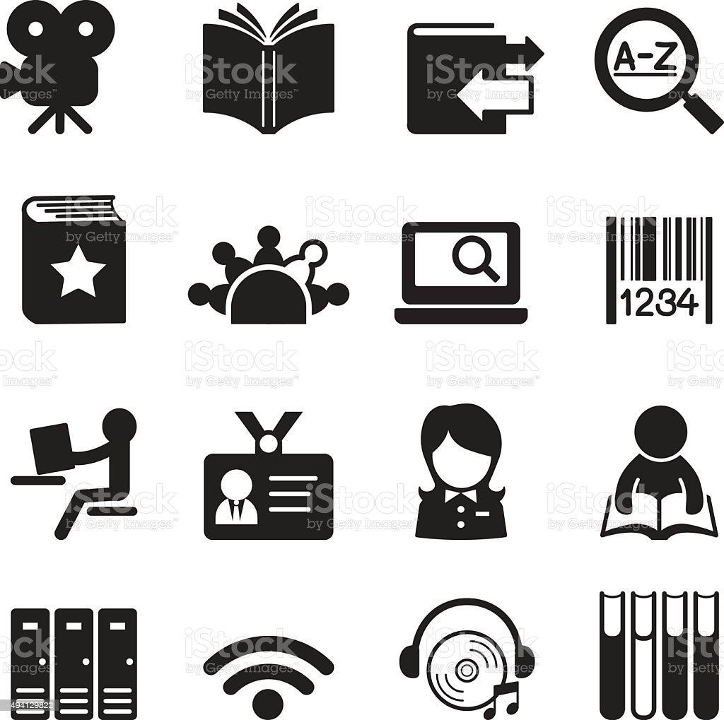 Ilustración vectorial de íconos de la biblioteca símbolo 2 - ilustración de arte vectorial