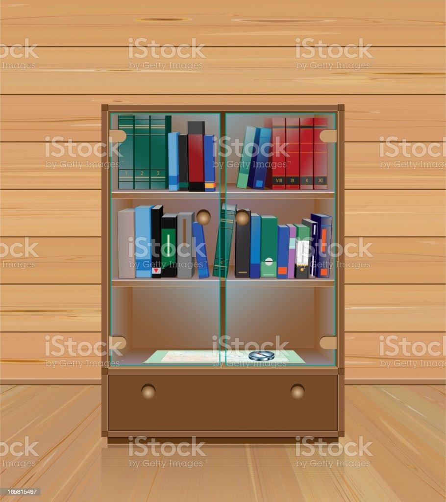 Library Shelf vector art illustration