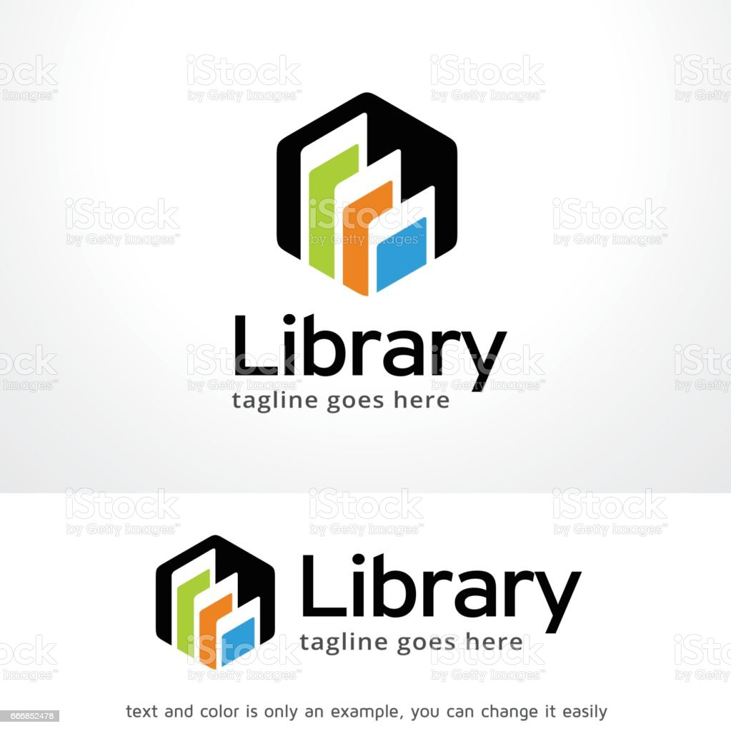 Library Symbol Template Design Vector, Emblem, Design Concept, Creative Symbol, Icon vector art illustration
