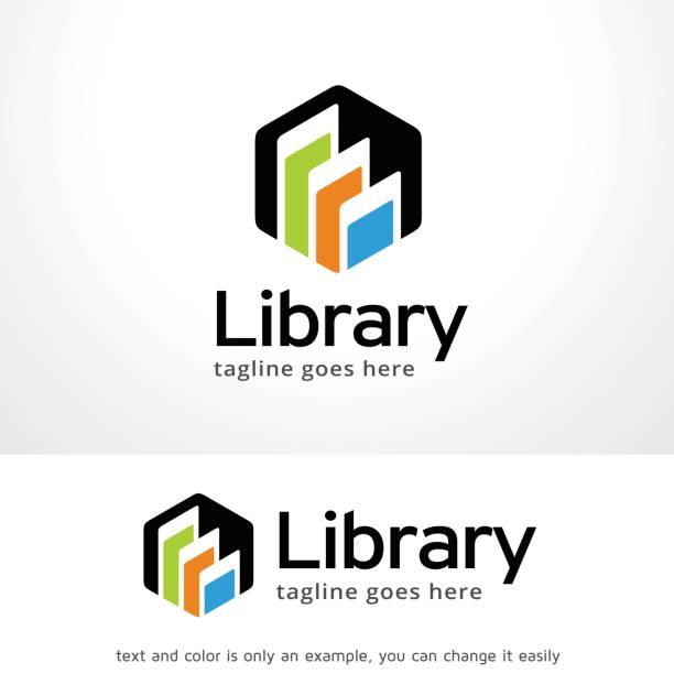 Bibliothek Symbol Template Design Vektor, Emblem, Designkonzept, kreativen Symbol, Symbol – Vektorgrafik