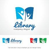 Library Symbol Template Design Vector, Emblem, Design Concept, Creative Symbol, Icon