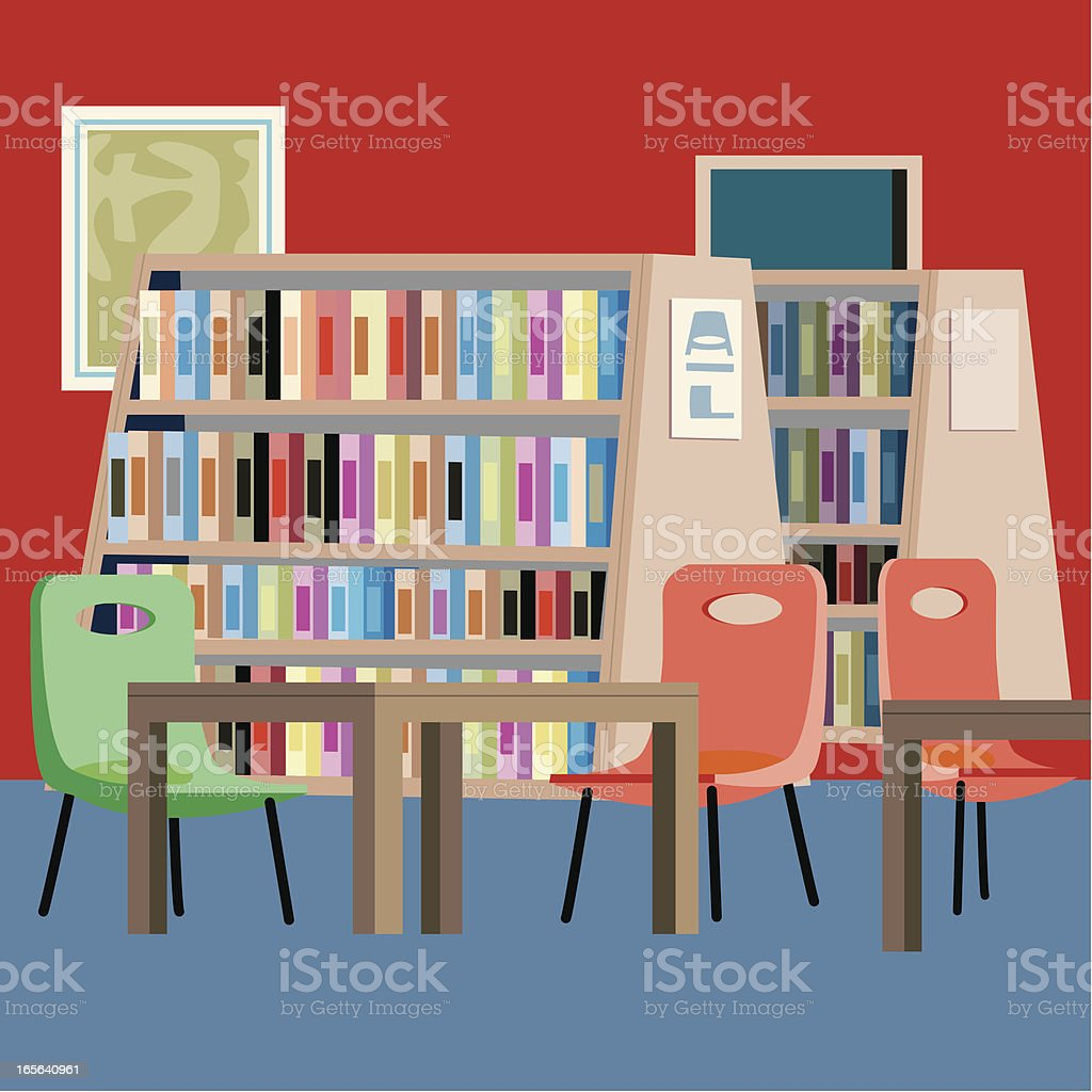 Library royalty-free library stock vector art & more images of bookshelf
