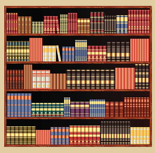 Library vector art illustration