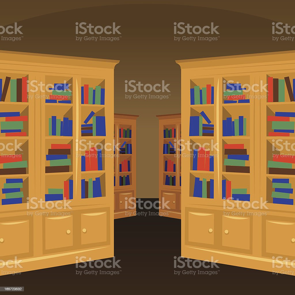 Library vector interior royalty-free stock vector art