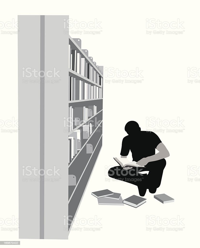 Library Work Vector Silhouette royalty-free stock vector art