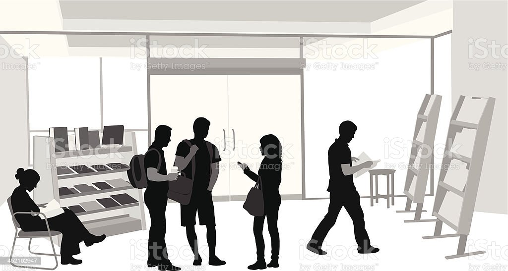 Library'n Friends royalty-free stock vector art