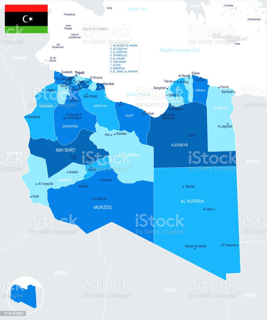 Libya Map Info Graphic Vector Illustration Stock Vector Art More