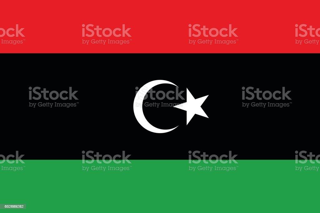 Libya vector art illustration