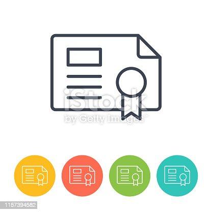 License Icon - Thin Line Vector Illustration. Health and Medicine