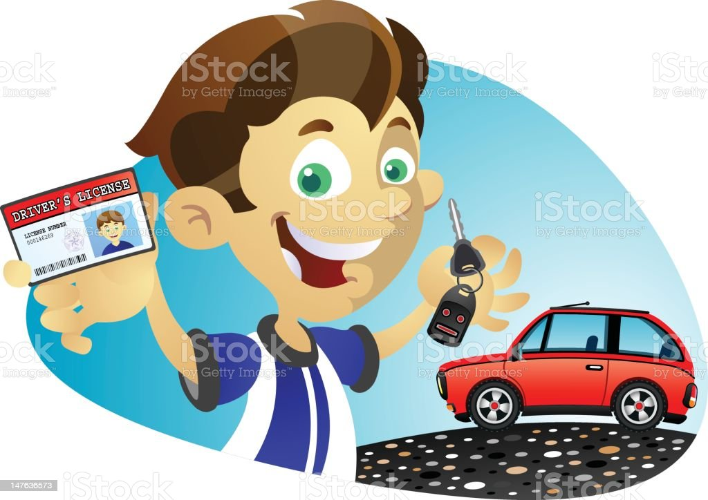 License to Drive vector art illustration