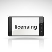 licensing word on mobile phone