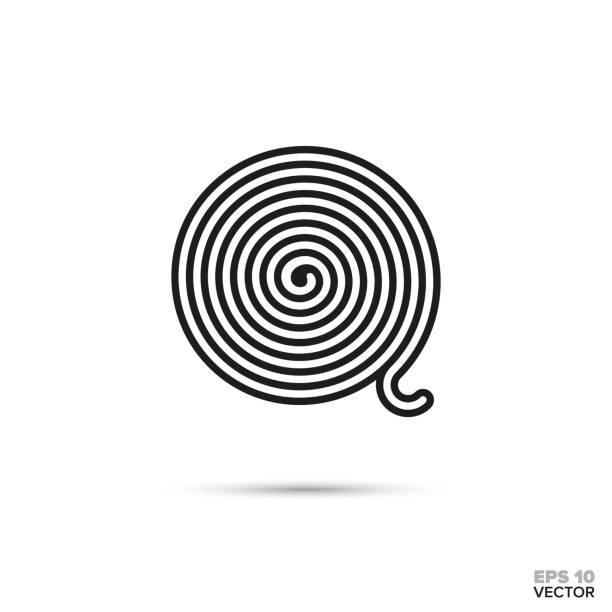 illustrazioni stock, clip art, cartoni animati e icone di tendenza di licorice wheel vector line icon - liquirizia