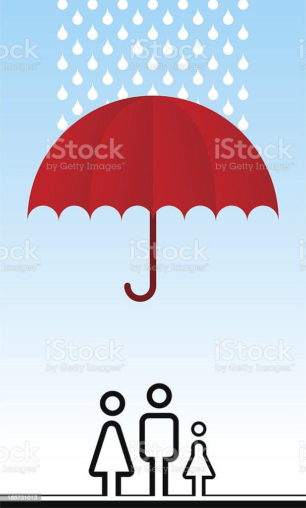 Vie & family Insurance - Illustration vectorielle