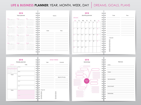 Life and business planner 2018