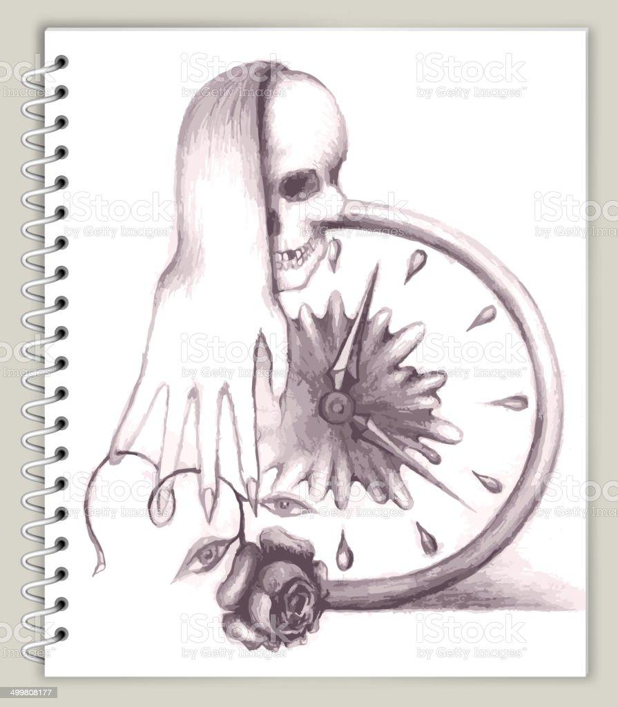 Dessin Sur La Vie Et La Mort Art Sketcbook Clipart ...