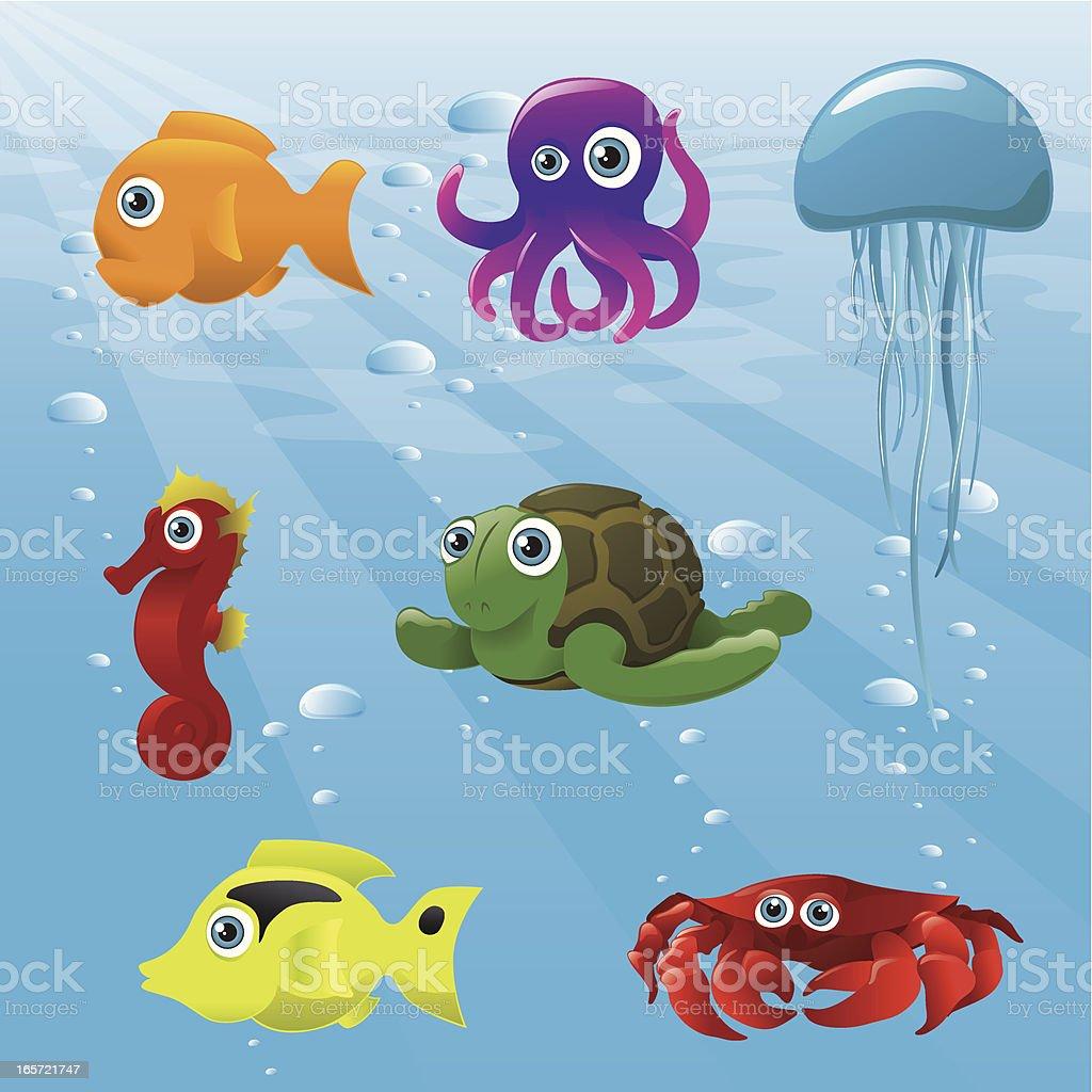 Life Aquatic - Animals royalty-free stock vector art