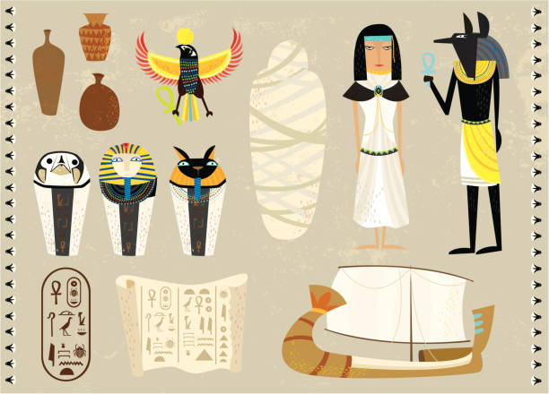 life as an egyptians life as an egyptians ancient egyptian culture stock illustrations