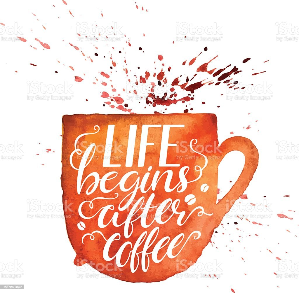 Life Begins After Coffee Royalty Free Life Begins After Coffee Stock Vector  Art U0026amp;