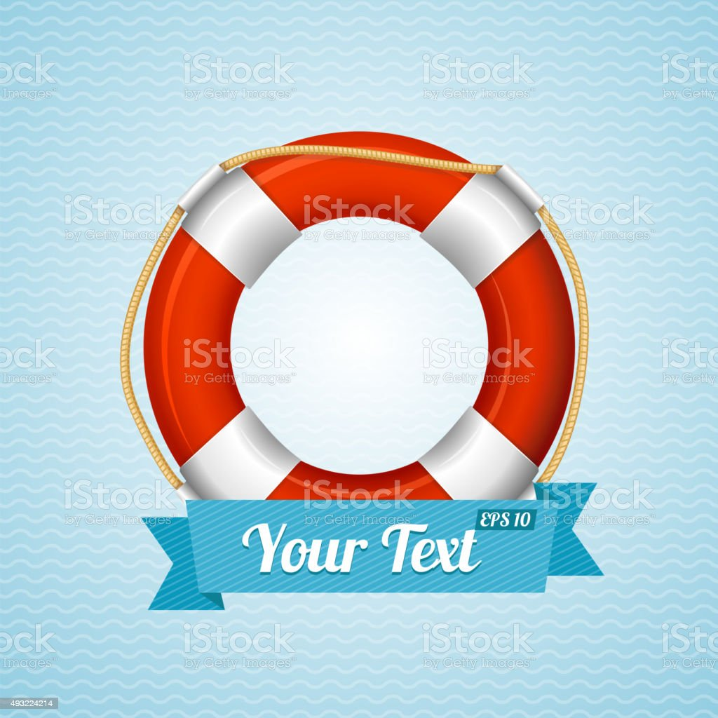 Life Bouy Background Sailor. Vector vector art illustration