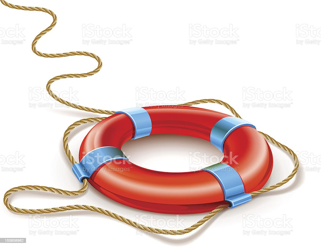 life buoy rescue ring helps euro currency sign crisis concept royalty-free stock vector art