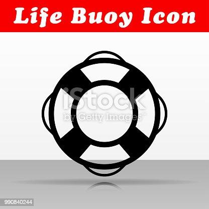 Illustration of life buoy vector icon design